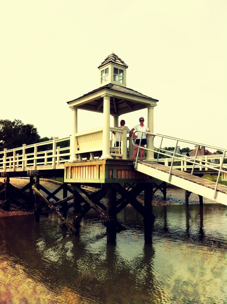 Dock on the Kiawah River. South Carolina.