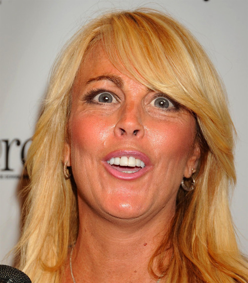 Dina Lohan with Michele Bachmann eyes.