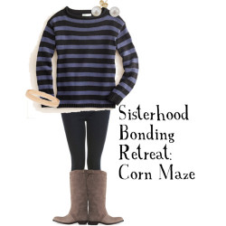 Sisterhood bonding retreat: corn maze by x333kelly featuring hardware jewelry