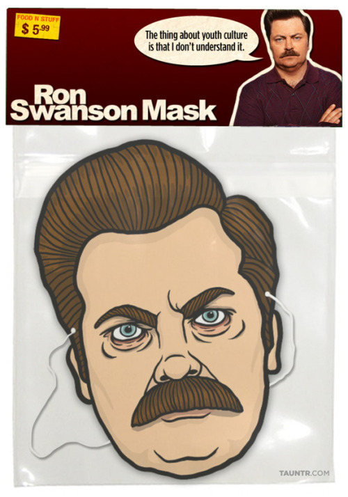 fuckyeahparksandrecreation:  RON SWANSON HALLOWEEN MASK DOWNLOAD YOUR OWN HERE!