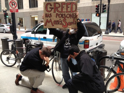 The 1% Doesn't Believe, The other 99% Tebows   #occupychicago