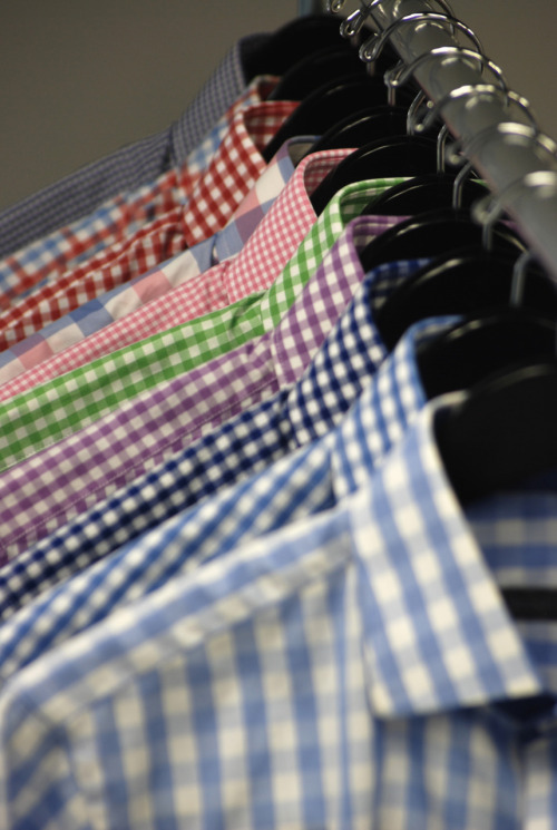 beckettrobb:  Gingham Shirt Heaven.  All from Beckett & Robb F/W 2011 Collection.  This is awesome.  I could definitely use some more gingham in my life…