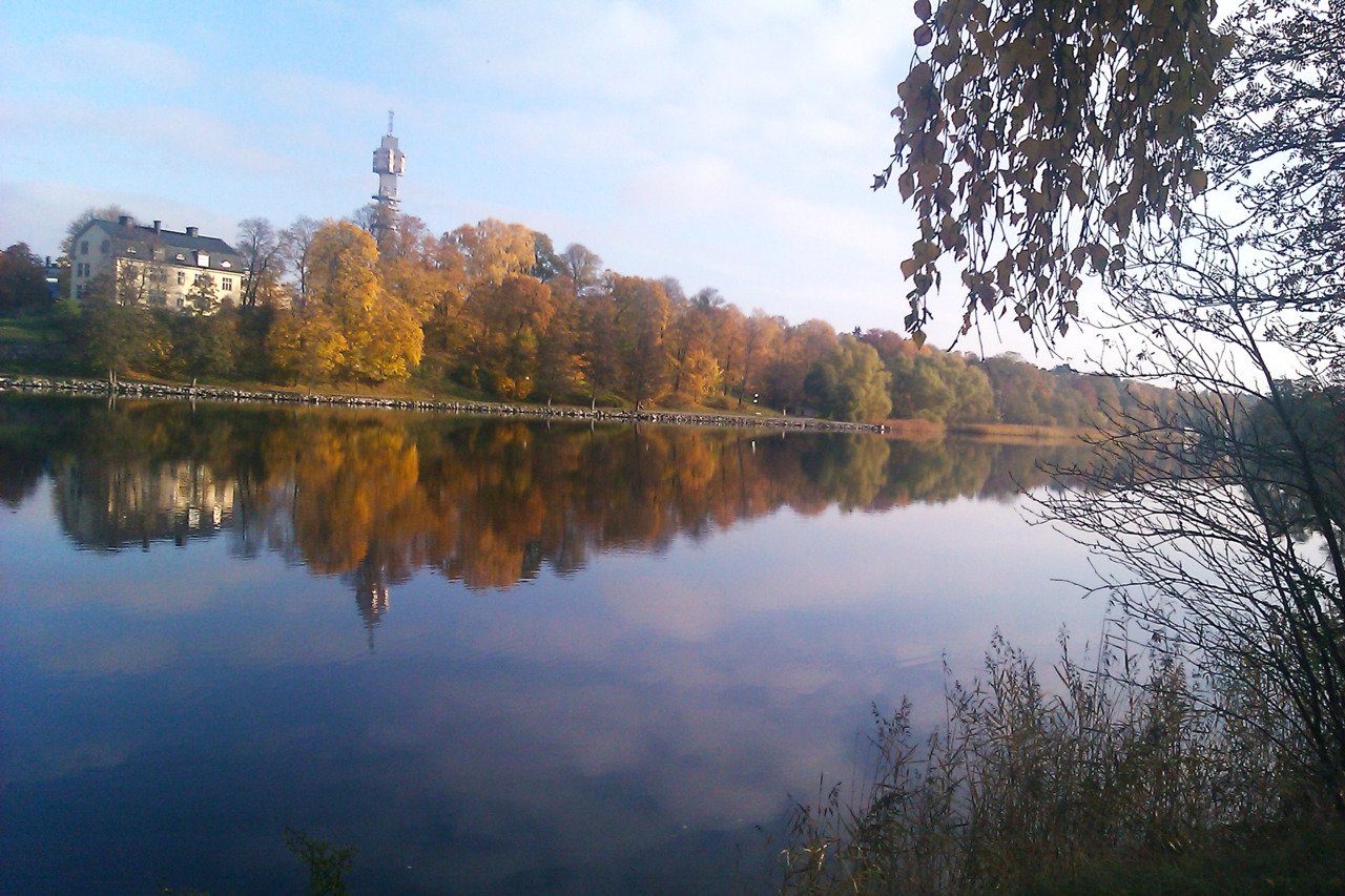 Beautiful Autumn, in Beautiful Stockholm  Some pictures taken today during my morning jog. Yes, once again I couldn't help but stop and capture some of the most beautiful views I've been noticing, with trees bursting with beautiful red and green shades, which today were mirrored perfectly on the calm waters of the lake. As I leave Stockholm at the end of next month, I'm trying to absorb as much as this beautiful city has to offer until then. As a big fan of green spaces and nature, these kind of mornings spent running through such pure surroundings, really make me happy.