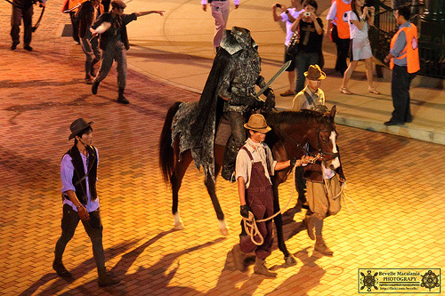 Headless Horseman in the Glow in the Dark Parade at Hong Kong Disneyland!