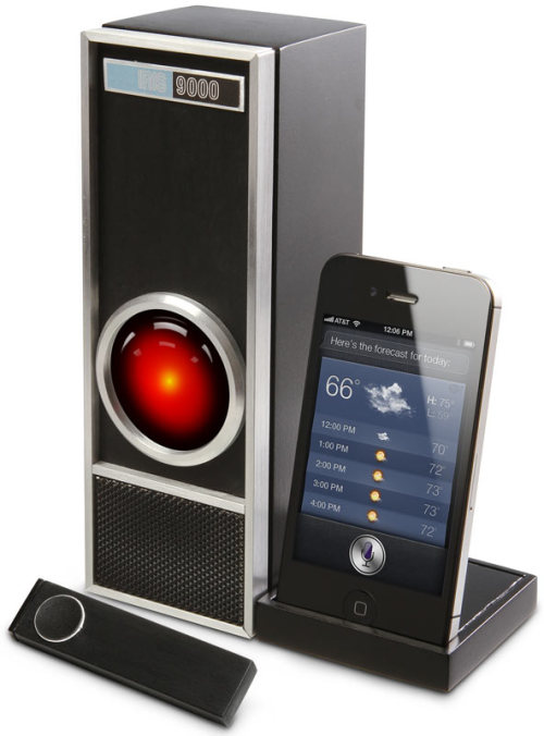 Iris 9000, A Retro Futuristic Speakerphone Dock for iPhone 4S and Siri (via Laughing Squid)