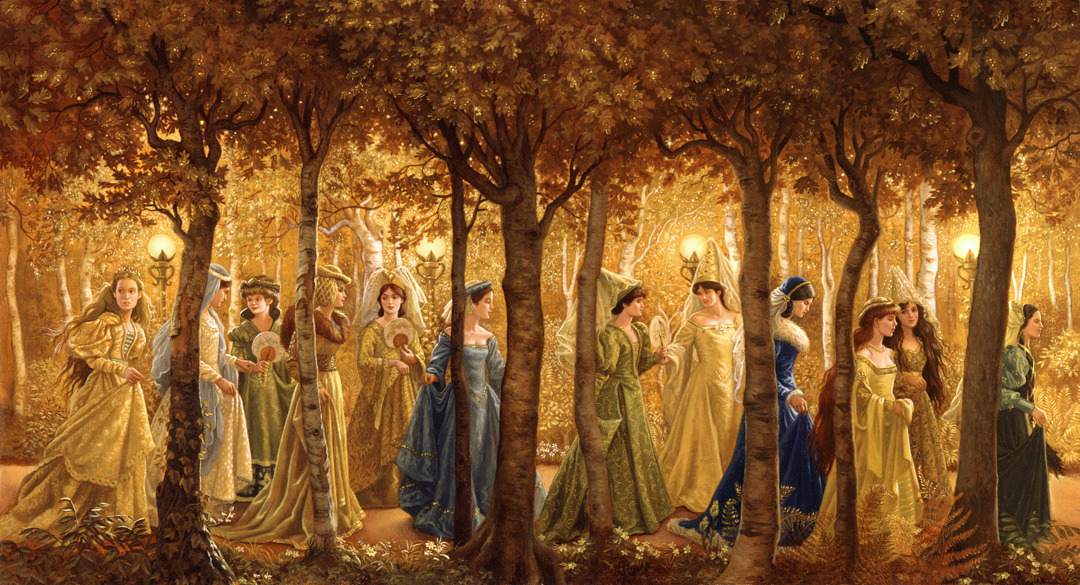 "fairytalemood:  ""Golden Wood"" by Ruth Sanderson"