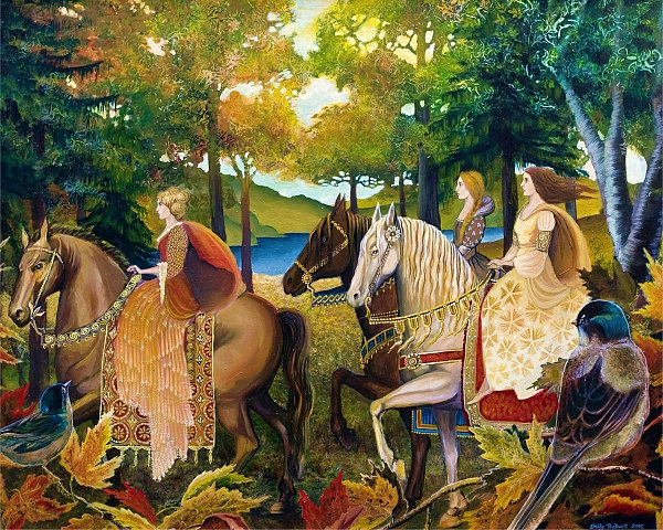 "fairytalemood:  ""Autumn Riders"" by Emily Balivet"