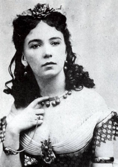 "cora pearl (born emma crouch in 1835) was at her time the most famous courtesan in paris. she may not have been the most conventional beauty, but she charmed men with her daring sexuality, enviable body, wit and lust for life. there are many stories about cora, some probably true and some not: it has been told she used to bathe in expensive champagne, once had herself served naked on a silver plate at a fancy dinner and dyed her hair red, pink and golden - and her dog's hair to match hers. ""I have never deceived anybody because I have never belonged to anybody. My independence was all my fortune, and I have known no other happiness."""