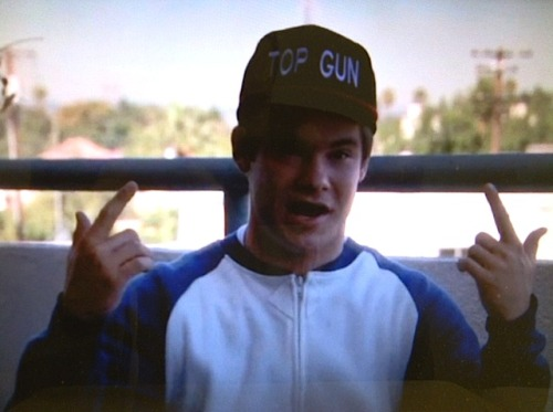 Why is Adam wearing this Top Gun hat? Find out in tonight's new episode, STOP! PAJAMA TIME!, at 10:30/9:30 CT, only on Comedy Central.