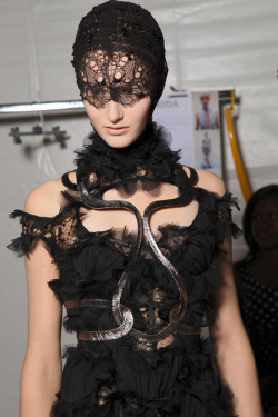 Backstage @ McQueen Spring/Summer 2012