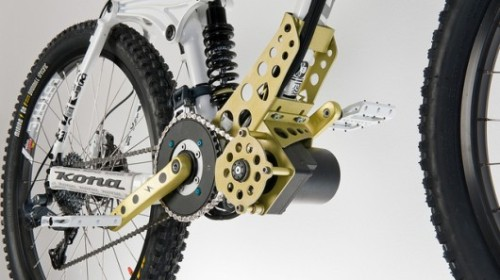 klaatu:   The EGO-Kit is an electric motor that can be added to downhill mountain bikes for powering them up to the tops of mountains. Read