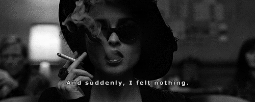 "moonaonthemoon:  ""And suddenly, I felt nothing."" FIGHT CLUB"