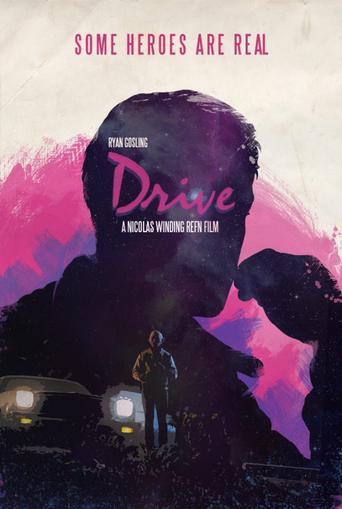 "Another brilliant Drive poster by Luis Fernando Cruz and yet another reason why this man needs to start selling prints! fcruz:  Made another ""Drive"" Poster. Can't stop…"