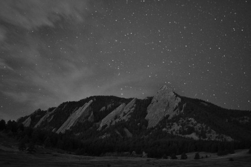 Flatirons at night, Boulder, CO. 13 second exposure.
