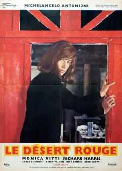 French poster for Michelangelo Antonioni's Il deserto rosso, 1964.