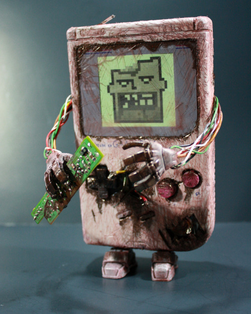 Zombie art of the day: Zombie Game Boy by Donald Kennedy Via