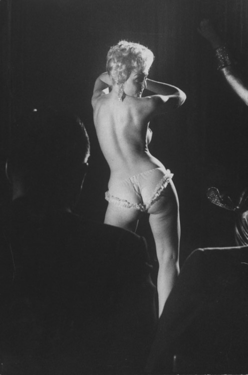 Patti White on stage, 1959.