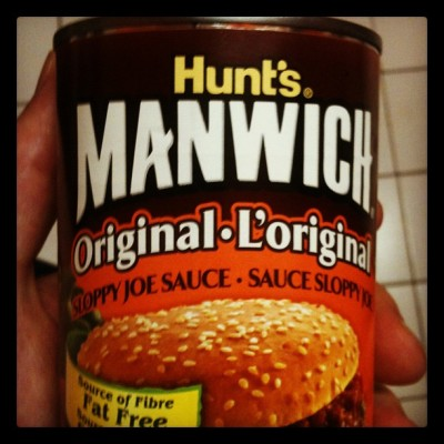 Tonight we feast on….. MANWICH (Taken with Instagram at Mancave)