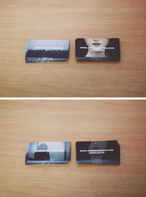 They're heeeere… New business cards.