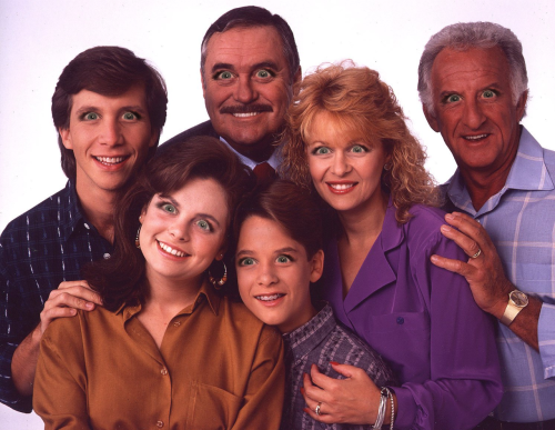 The cast of Mr. Belvedere with Michele Bachmann eyes.