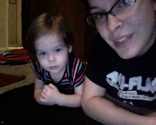 "we're the last two awake tonight. She's watching ""It Might Get Loud"" with me. She agrees that Jack White should live in my closet and play music all day for us."