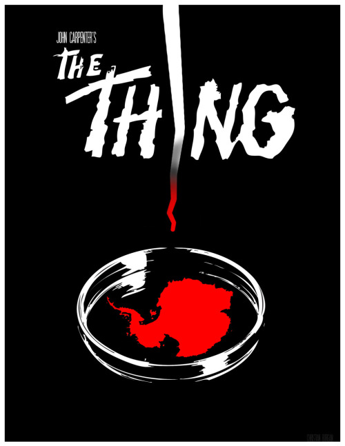 minimalmovieposters:  The Thing by christianstjames