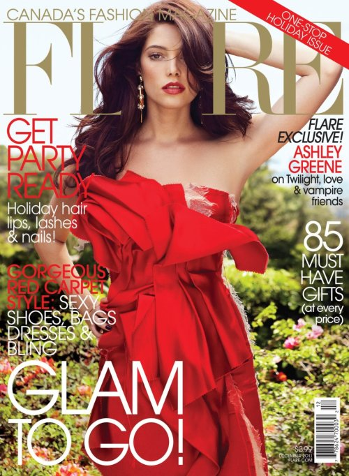 Ashley Greene Covers FLARE (December 2011)