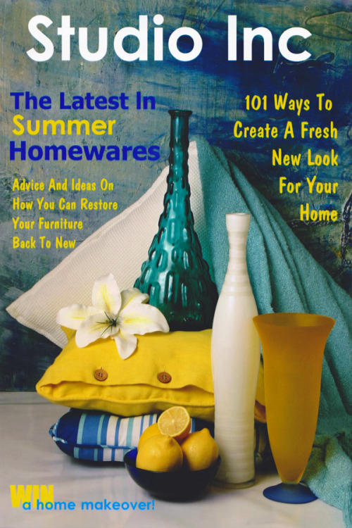 "Photo styling, ""Studio Inc, Homewares Magazine -Summer Theme"""