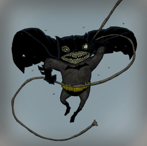 graceka:  Batman Zombie swinging by *pecks13