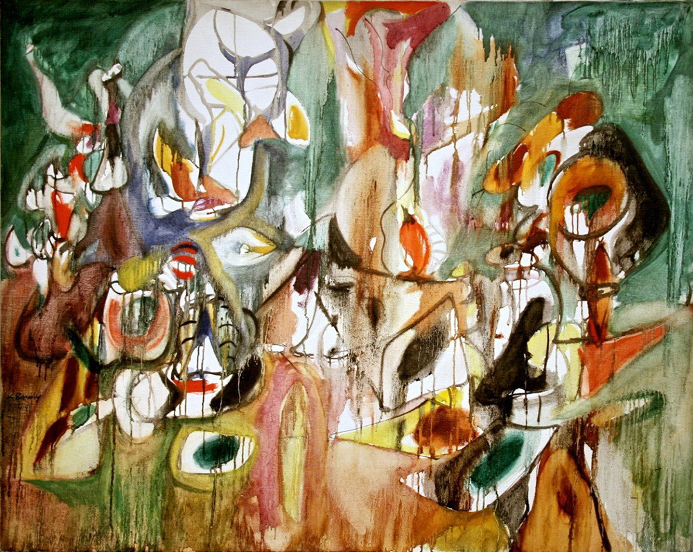 missfolly:  One Year the Milkweed, 1944, by Arshile Gorky  Happy Arshile Gorky's birthday, maybe!  (The man was often very vague concerning details of his life, and was known to give different dates of birth in later years.  His year of birth still isn't concretely known.)