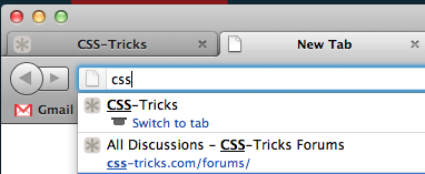 Firefox - If you start typing a URL and you already have a tab open of that URL, the first option in the dropdown offers to switch you to that tab.