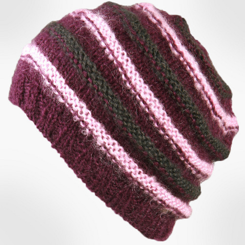 a_Women's Handmade Wool Stripe Knit Beanie_01 on Flickr.reblog and get 10% OFF from www.masslandstyle.com, cheers!