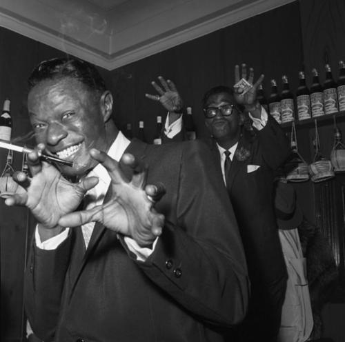 ohwhatthefog:  raymondtylerpresents: Nat King Cole and Sammy Davis Jr.
