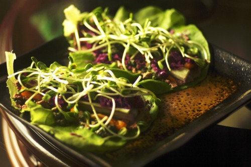 Raw lettuce wraps