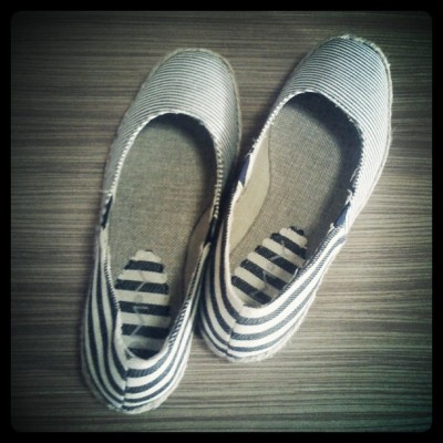 New stripey slip ons from Lovey! :)) (Taken with instagram)