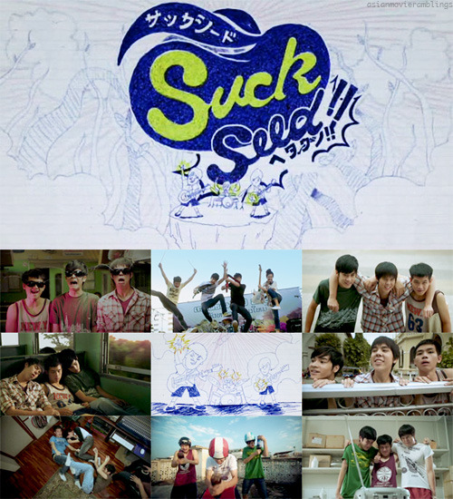 "asianflicks:  SUCKSEED (2011)  SYNOPSIS Ped develops a crush on Earn when she helps him during a Music class dilemma. Ped gain Earn's favor, and to do that, he has to learn how to sing her favorite song. Before Ped manages to have the courage to let Earn listen to him sing, she moves to Bangkok. A few years later, Ped spends his time with his best friend, Khung. They try a lot of things (yoyo, rollerskates, etc.) and eventually decide to form a band. When they realize that being in a band can attract girls, they have more motivation to practice. The problem arises when Ped and Khung want to woo the same girl, Earn, who just moves back from Bangkok. CAST: Jirayu Laongmanee (Ped), Nattasha Nauljam (Earn), Pachara Chirathivat (Khung), Thawat Pornrattanaprasert (X) RECOMMENDED TO: teens, young at heart, anyone looking a fun, light movie, everyoneeee WHY YOU SHOULD WATCH IT? Let's just say that I was smiling the whole time I was watching this movie. It has everything I want in a feel-good teen movie. I am terribly in love with SuckSeed right now and the only thing I could think of is watching it again. I rarely watch a movie twice but this makes me believe that I can watch it a hundred times without ever getting tired of it. SuckSeed is produced by GTH, the same company that brought us Hello Stranger and Bangkok Traffic Love Story—both movies I love dearly. Based on that information alone, it's easy enough to expect a lot from SuckSeed. But before I flood you with emotional rants, let me say first the objective reason why I love this movies.  It has a relatable story. What's new about a movie about teens forming a band? Nothing much, but this movie takes that story into something anyone will like. Sure, this movie has mixed reviews but everyone can relate to it. We all went through that phase believing we're fated to be rockstars. This movie gives so much life to that plot with the characters of Ped, X, Earn, and especially Khung. With the amazing editing and well-paced flow of the story, it was hard to believe that it's the director's debut movie. The movie takes you from Ped's childhood memory of Earn to his voyage into his teens with somehow the same affection for the Earn. When you look at it, this story is really about Ped, but we wouldn't have his story developed enough if we wouldn't develop the people affecting his stories. Ped's a follower. Ever since childhood, he's been following whatever Khung says and doesn't really take initiative. But when he wants something bad enough, he shows that he'll do anything to get what he wants. Be it Earn, or Khung's friendship. He overcome his inhibitions and fears when he wants something bad enough. It's surprising how much I like this film, though. I'm not into musicals and movies revolving around music aren't my thing. But in this one, I enjoyed the singing. When the scene is getting too dramatic, a singer will pop out of nowhere and sing! It's quite amazing how the characters would even sing along, but maybe I'm just easily entertained. I think I would have enjoyed it more if I knew the artists. It doesn't hurt that our three main actors are incredibly adorable, too. I admit that there are times when I feel like their acting is forced but it still works! They act like real high school kids and I just want to huddle them in a hug and never, ever let go. Khung, Ped, and X's scenes together are so much fun. Their scenes are really the highlights of this movie. Their desire to perform on stage is transcending through the screen. I just want for them to be the best and to win the battle of the bands. However, I knew that even though this is a positive movie, it won't go over the top by making all their dreams come true. Okay, end of spoiler here.  Of course, there's no teen movie without an innocent first love. Earn is the epitome of the cool girl in high school. She's pretty, friendly, and can play the guitar like some pro. (Nattacha can really play the guitar so I like her so much more.) She's the perfect girl to fall for when you're awkward and shy like Ped. All their scenes together sent butterflies to my stomach. Just thinking about them makes me smile like a fool! Argh. It's been a while since I felt like this for a movie! The actors who played Ped and Earn have so much chemistry. They are now my new OTP and you can do nothing about it! They said that SuckSeed followed GTH's formula to create a hit movie. They said that the trick is ""to stick to clean, optimistic stories with uplifting messages and an overall feel-good vibe."" And that's exactly what SuckSeed do. We are given three boys who doesn't really have that much talent in music. With enough practice, passion and perseverance, they slowly let their dreams materialize. This movie will leave you laughing till the last scene. This will definitely be one of the movies I'll watch when I'm starting to feel like there's nothing good left in this world. If you think I'm praising this movie a little too much, maybe I am. Heh. I just really, really love it, and it will be amazing if more people will see this movie and love it as much as I do. EXTRA FANGIRL RANT  (That photo doesn't give his face and appeal any justice! No, I'm not defensive.) My first thought after watching the movie: Thai boys are out to get my heart, and I really don't mind. I really, really don't mind. Kao (Jirayu La-ongmanee) is adorable as Ped in this movie. He's exactly my type. He's tall, lanky, dresses simply, and incredibly awkward. He also has some troubles confessing or making moves towards the girl he likes. Yes, that's exactly my type. He made me squeal like a high school girl, and I end up gushing in every scene. He rapidly climbs on top of my favorite Thai actors list and cemented his spot. Then I found out he's only turning 16 this Oct. 29. SIXTEEN. SIX-FUCKING-TEEN. I'm five years his senior. FIVE YEARS! And I'm crushed like crushed peanuts. (WHUT) Turns out he's the young Mario Maurer in The Love of Siam! I already thought he's cute in that movie. WAAAAAAAI ARE YOU SO YOUNG? But seriously, if you're going to watch this movie, don't like him too much if you're a lot older than him. You'd end up feeling old and depressed like someone *cough*me*cough* I know. Beware, ladies. These boys will make you feel like a grandma."