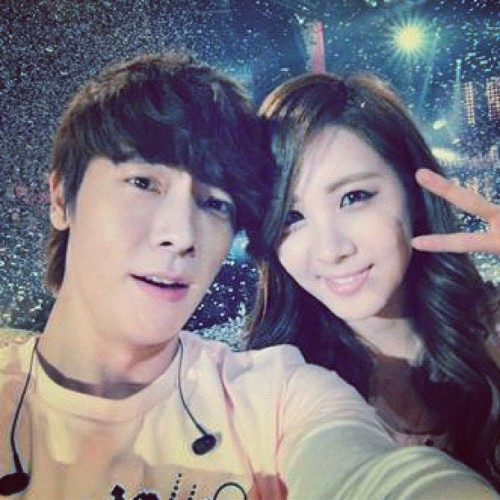 #둥해 오빠 & 우리 막내 #서현 #소녀시대 #슈퍼주니어 #snsd #girlsgeneration #superjunior #Seohyun #Donghae #kpop (Taken with instagram)