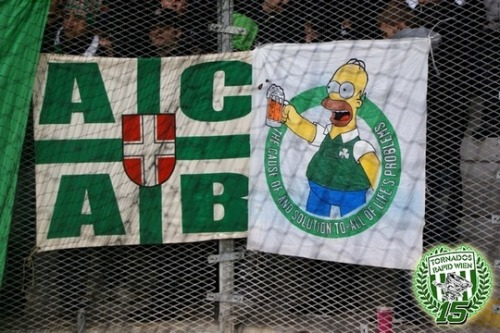 Also from the Wien derby. Rapid Wien. ACAB
