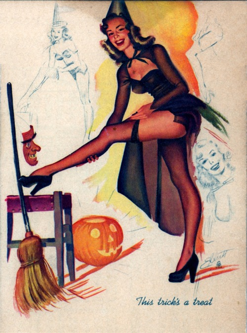 "ladylikelady:  Elliot's ""This Trick's A Treat"" appeared in October 1950"