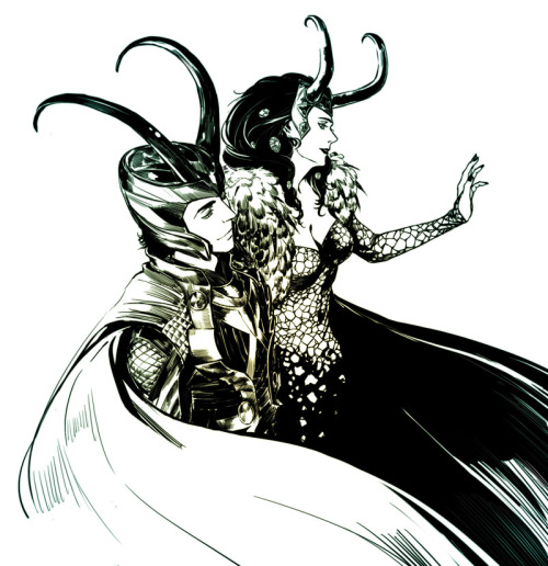 axemurderess:   Loki and Lady Loki by reine
