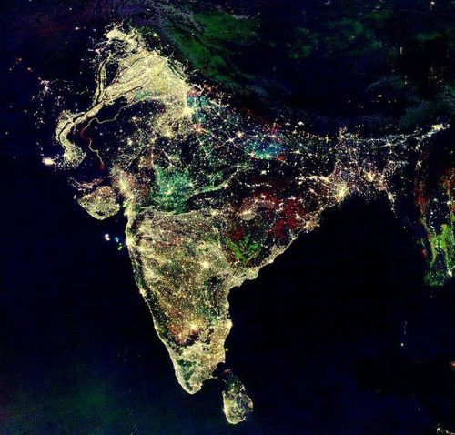 India at night during DiwaliHappy Diwali and Sal Mubarak to everyone celebrating! I wish you all, immense amounts of happiness, peace and prosperity. Always.