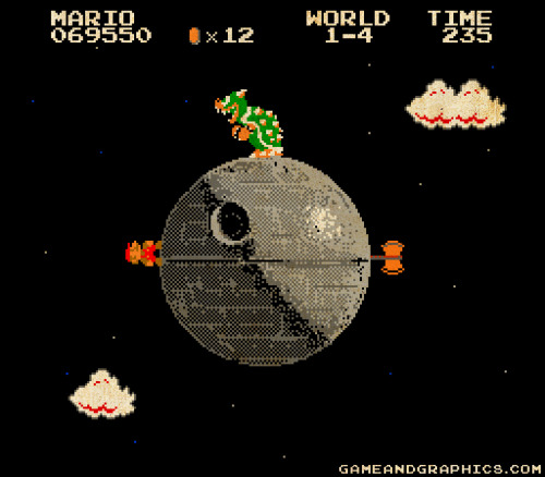 gameandgraphics:  Super Mario Galaxy - 8bit Empire Edition by Game & Graphics.    why do women wear thong panties