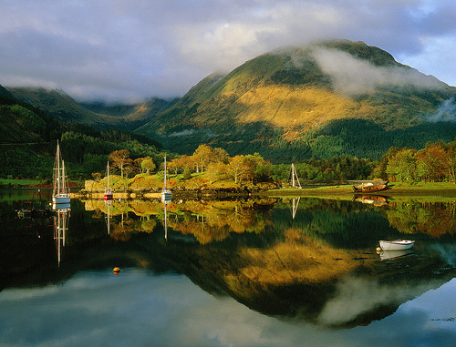 Loch Leven Moorings, Scotland (by bobbrooky)