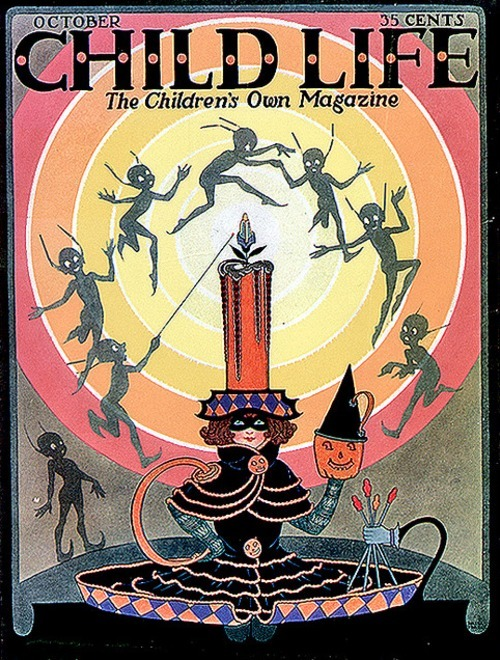 Child Life Magazine, cover from October 1923. Lovely little spirits!