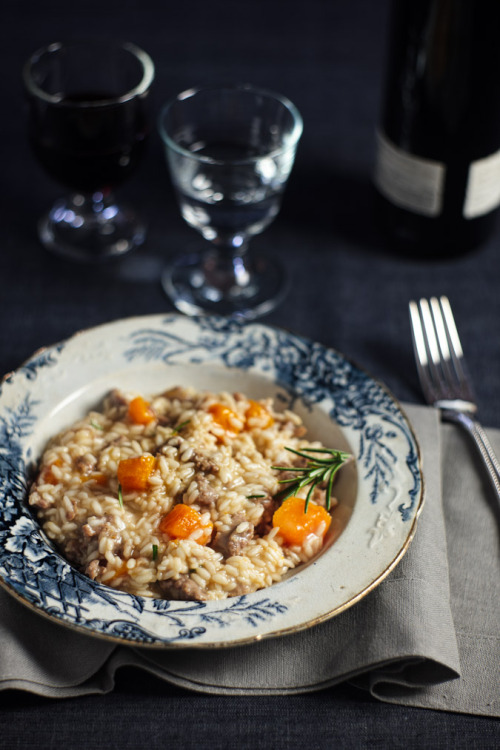 ffoodd:  foodografia:  Pumpkin and Sausage Risotto