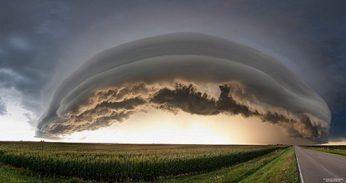 thedame:seenthroughgreeneyes:  Arcus Cloud, by Ryan McGinnis  The Big Storm Picture: August Arcus Extravaganza! http://p.tl/-cXj   Neat..were was this shot?