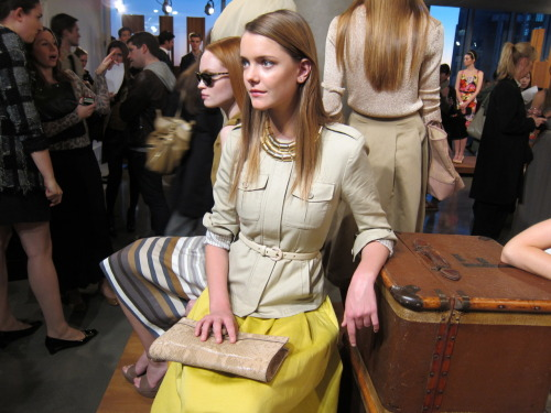 A vintage safari theme at the Banana Republic spring 2012 presentation.