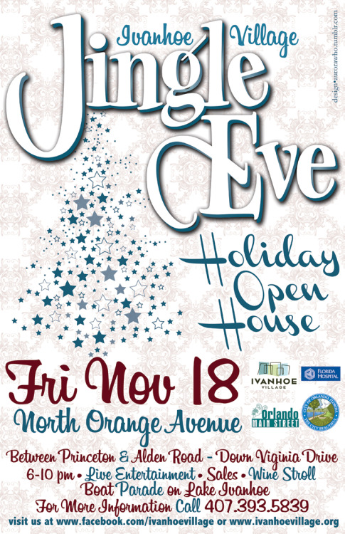 "11""x17"" Jingle Eve Poster design for Ivanhoe Village"