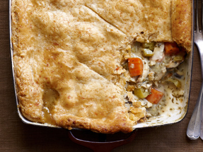 Thanks to Food Network, this recipe for a Chicken Pot Pie Casserole (with a cheddar biscuit crust no less) is definitely going to be added to my recipe repertoire!