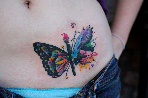 butterfly paint tattoo (by Deanna Wardin @ Tattoo Boogaloo)